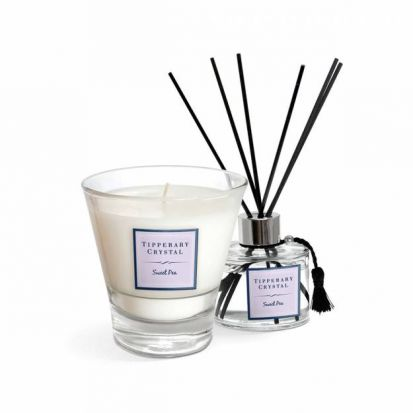 Tipperary Crystal Sweet Pea Candle & Diffuser Gift Set