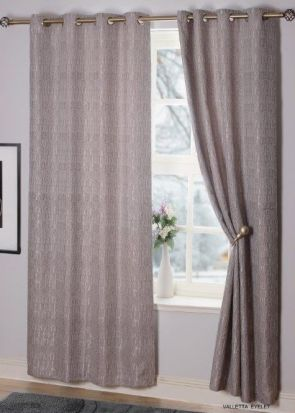 Valetta Interlined Eyelet Readymade Curtains Silver - 66
