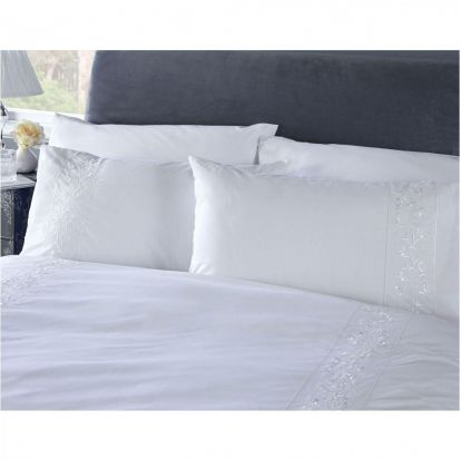Vantona White Collection Florence European Pillowcase 65 x 65cm