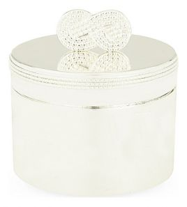 Vera Wang Infinity Baby's First Curl/Tooth Box Silver