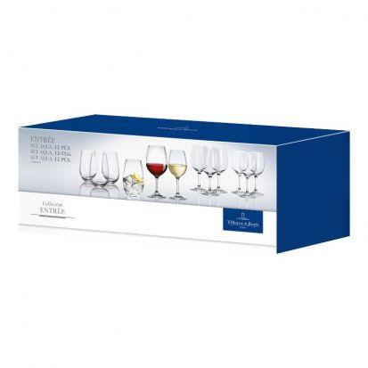 Villeroy & Boch Entree Aqua 12 Piece Glassware Set