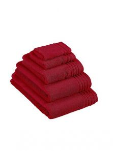Vossen Vienna Supersoft Rubin Red Face Cloth