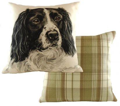 WaggyDogz Black Springer Spaniel Cushion