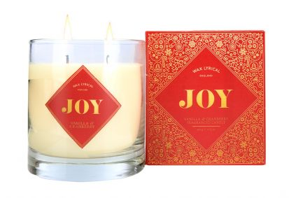 Wax Lyrical Twin Wick Candle Joy - Vanilla & Cranberry