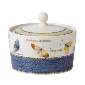 Wedgwood Sarah's Garden Blue Sugar Box