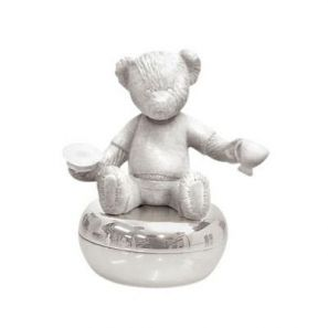 Wedgwood Silver Christening Bear Collection Tooth Box