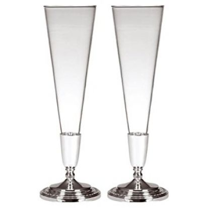 Wedgwood Wish Silver Champagne Flute Pair