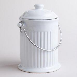 White Compost Pail
