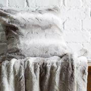 Behrens Faux Fur Cushion Cover Grey 45x45cm