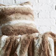 Behrens Faux Fur Cushion Cover Natural 45x45cm