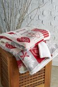 Behrens Printed Sherpa Throw Winter Stag