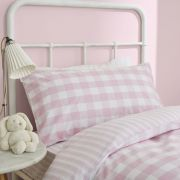 Bianca Check and Stripe Pink Duvet Cover Set - Single 3