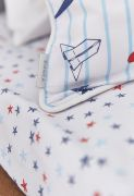 Bianca Cotton Soft Star Fitted Sheet Toddler Bed Main
