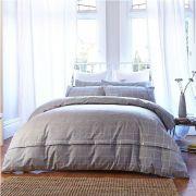 Bianca Cottonsoft Brushed Cotton Print Grey Duvet Cover Set Double