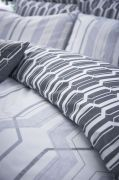 Bianca Cottonsoft Geo Duvet Cover Set Grey - King 3