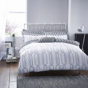Bianca Cottonsoft Geo Duvet Cover Set Grey - Single