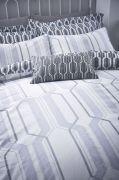 Bianca Cottonsoft Geo Duvet Cover Set Grey - Single 2