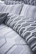 Bianca Cottonsoft Geo Duvet Cover Set Grey - Single 3
