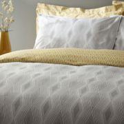 Bianca Cottonsoft Ziggurat Grey Duvet Cover Set - Superking 2