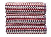 Christy Carnaby Stripe Bath Towel - Berry