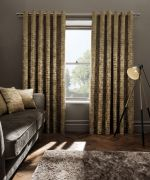 Clarke & Clarke Naples Gold Curtains - 66