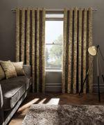Clarke & Clarke Naples Gold Curtains - 90