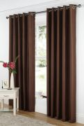 Curtina Java Readymade Eyelet Curtains Chocolate 90
