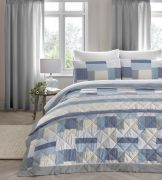 Dreams and Drapes Boheme Blue Duvet Cover Set - Single