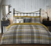 Dreams and Drapes Connolly Check Duvet Cover Set - Single