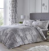 Dreams and Drapes Marinelli Grey Duvet Cover Set - Superking 2
