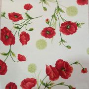 Red Poppies Oil Cloth