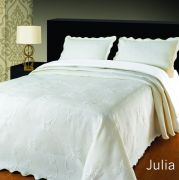 Elainer Julia Bedspread White Single