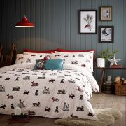Fat Face Sledging Dogs Duvet Cover Set - Superking