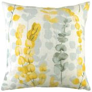 Flourish Eucalyptus Ochre Cushion