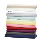 Helena Springfield Plain Dye White Base Valance Sheet - Superking