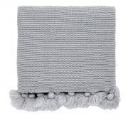 Helena Springfield Tivoli / Klint Grey Knitted Throw