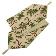 Holly Ribbon Christmas Table Runner 14
