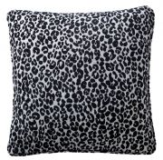 Karen Millen Leopard Chenille Square Cushion - Midnight/Dove