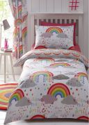 Kid's Club Clouds and Rainbows Duvet Cover Set