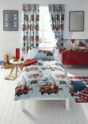 Kids Club Fire Engine Curtains 168 x 183cm