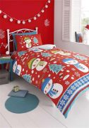 Kids Club Snowman Duvet Cover Set Double