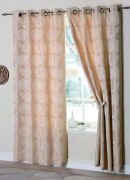 Malmo Champagne Readymade Eyelet Curtains 66