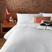 Orla Kiely Ditsy Early Bird White Duvet Cover - Superking