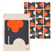 Orla Kiely Elephant Tea Towel - Set of 2