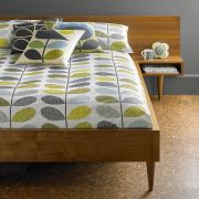 Orla Kiely Scribble Stem Duvet Cover Duckegg Seagrass King