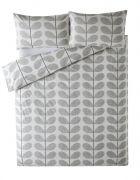 Orla Kiely Scribble Stem Duvet Cover Light Concrete King 1