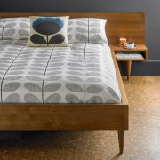 Orla Kiely Scribble Stem Duvet Cover Light Concrete Superking