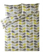 Orla Kiely Scribble Stem Housewife Pillowcase Pair Duckegg Seagrass 1