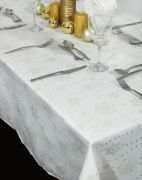 Peggy Wilkins Sparkly Snowflakes Tablecloth 67