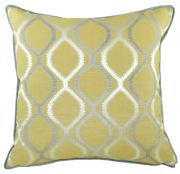 Piped Fawsley Knoll Ochre Cushion
